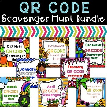 QR Code Scavenger Hunt Bundle