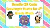 QR Code Scavenger Hunt Bundle for 4th Grade Math