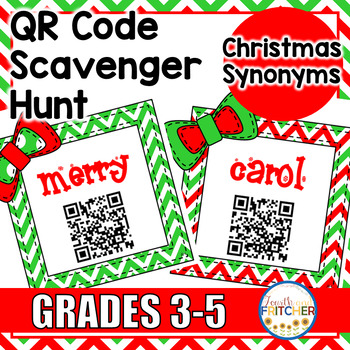 Christmas Synonyms QR Code Activity