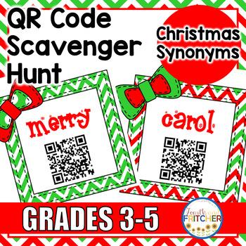QR Code Scavenger Hunt: Christmas Synonyms