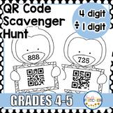 QR Code Scavenger Hunt: Division (4-Digit by 1-Digit)