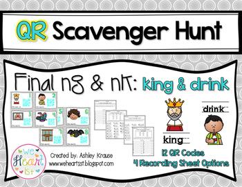 QR Code Scavenger Hunt: Final -ng & -nk