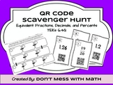 Converting Fraction Decimal and Percents Activity Task Cards QR Task Cards