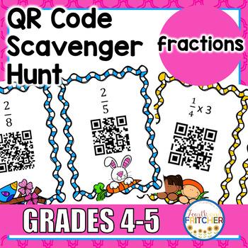 QR Code Scavenger Hunt: Fractions