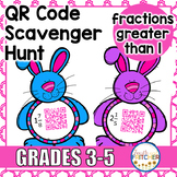 QR Code Scavenger Hunt: Fractions Greater Than 1