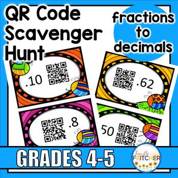 QR Code Scavenger Hunt: Fractions to Decimals