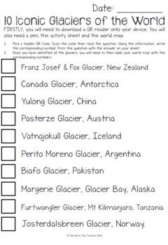 QR Code Scavenger Hunt - Glaciers