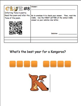 Inferring - QR Code Scavenger Hunt