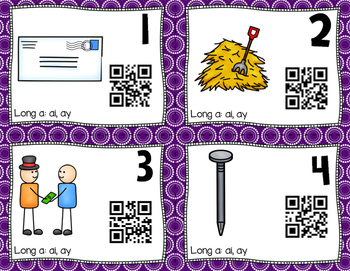QR Code Task Cards: Long A
