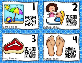 QR Code Task Cards: Long E