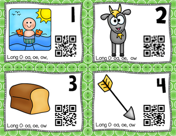 QR Code Task Cards: Long O