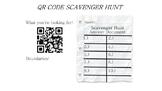 QR Code Scavenger Hunt (Math Trivia)