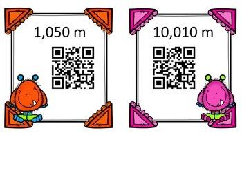 QR Code Scavenger Hunt: Converting Metric Units of Length