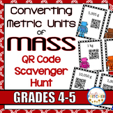 Converting Metric Units of Mass QR Code Activity