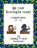 QR Code Scavenger Hunt - Multiplying by 6 - 12