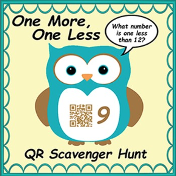 QR Code Scavenger Hunt- One More, One Less Owl Themed