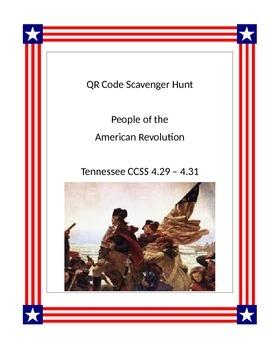 QR Code Scavenger Hunt- People of American Revolution