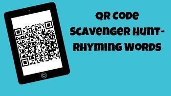QR Code Scavenger Hunt- Rhyming Words