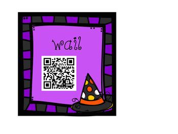 QR Code Scavenger Hunt: Halloween Synonyms