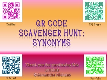 QR Code Scavenger Hunt: Synonyms