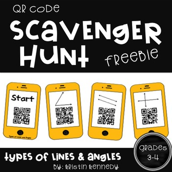 QR Code Scavenger Hunt: Types of Lines and Angles FREEBIE