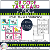 QR Code Task Cards: Vowel Teams & Diphthongs BUNDLE