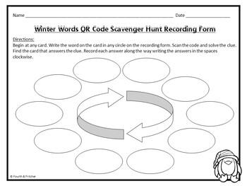 QR Code Scavenger Hunt: Winter Words {FREEBIE}