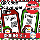 Winter Synonyms QR Code Activity {FREEBIE}
