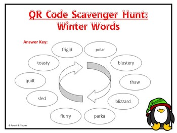 Winter Synonyms QR Code Activity {FREEBIE}