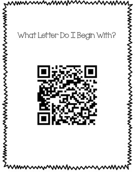 QR Code Work Station Alphabet Hunt