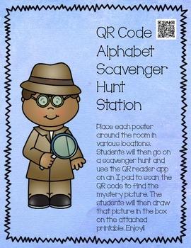 QR Code Work Station Alphabet Hunt