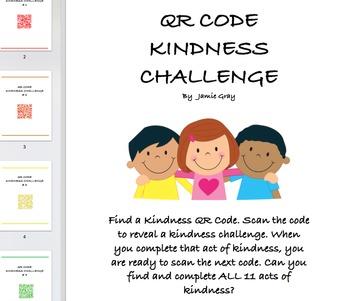 QR Code Scavenger Hunt and Kindness Challenge