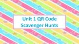 QR Code Scavenger Hunts for Unit 1:  Whole Numbers, Place