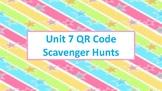 QR Code Scavenger Hunts for Unit 7:  Measurement