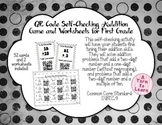 QR Code Self-Checking Addition Problems for 1st Grade
