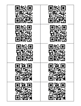 QR Code Sequencing Task Cards