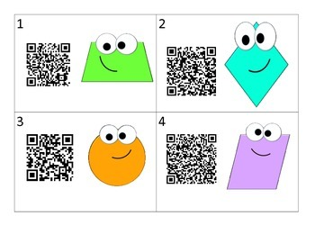 QR Code Shapes and their Attributes Write the Room