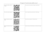 QR Code Sheet- Triangles, Transformations, & Congruent Shapes