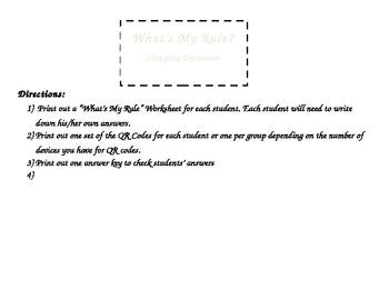 QR Code Shopping 1st Grade