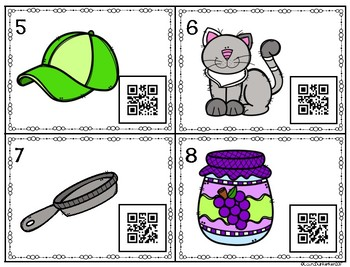 QR Code Short a Word Family Task Cards