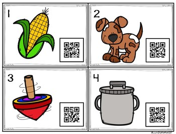QR Code Short o Word Family Activities