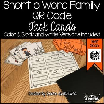 QR Code Short o Word Family Activities