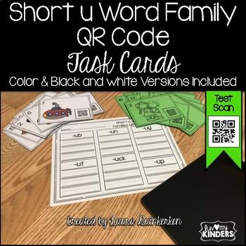 QR Code Short u Word Family Activities