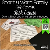 QR Code Short u Word Family Activities