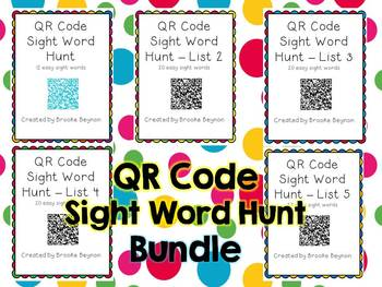 QR Code Sight Word Hunt - Bundle