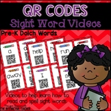 QR Code Sight Word Videos Task Cards for Pre-K Words