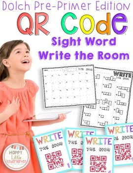 QR Code Sight Word Write the Room Activities
