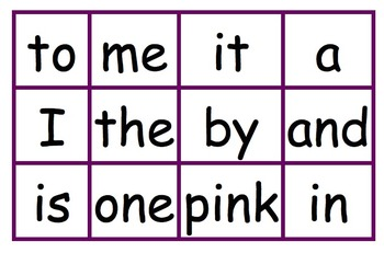 QR Code Sight Words