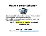 QR Code Sign for Classroom Door