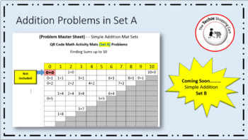 QR Code Simple Addition Activity Mats (Set A)